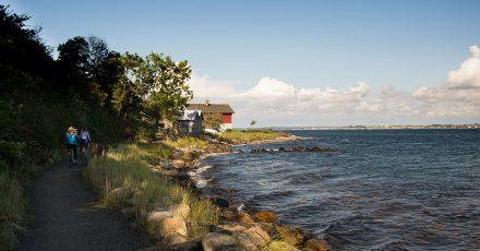 Un après-midi sur la belle île de Ven: du vélo, des photos et une eau à -12°C