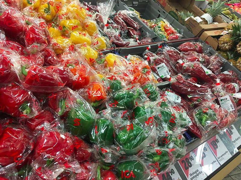 plastique supermarché suédois