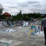 ancien skatepark à Malmö