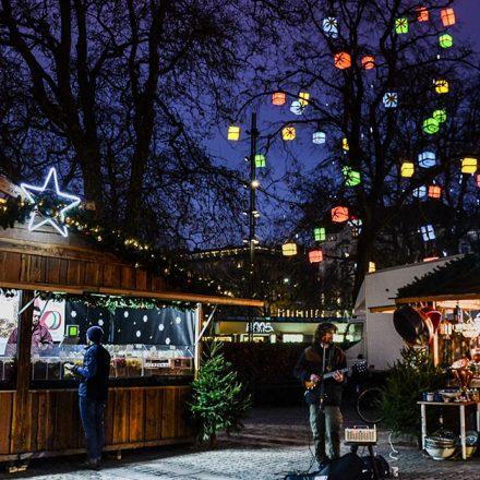 Le marché de Noël, un prétexte pour faire des photos