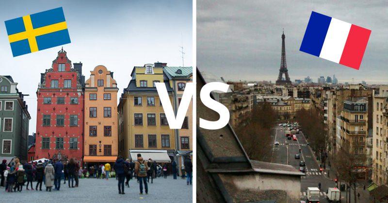 J'ai joué au jeu des 7 différences entre la Suède et la France pendant mes vacances