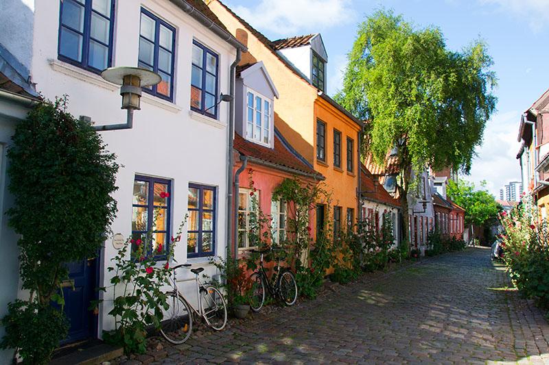 møllestien street aarhus vieille ville