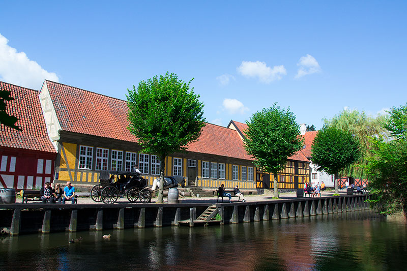 canal gamle by arhus danemark