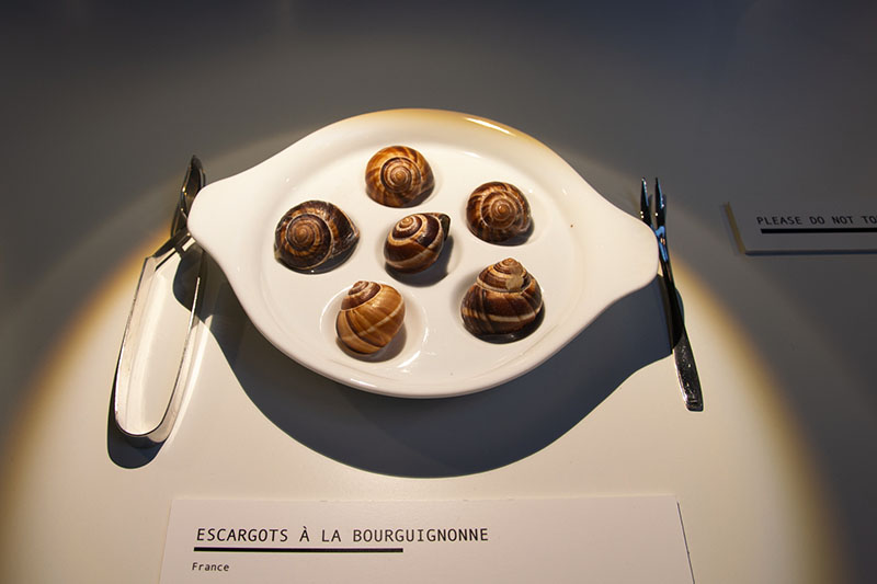 disgusting food museum escargots francais