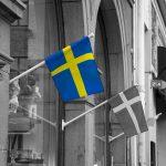 drapeau suedois rue